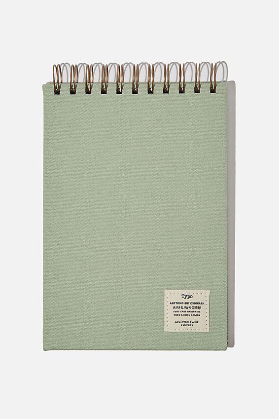 A5 Spiral Sketch Book, GUM LEAF