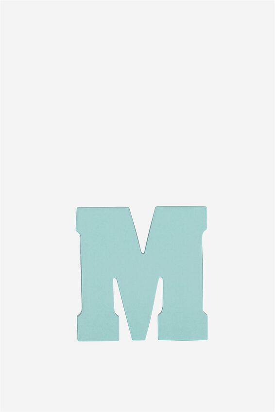 Alphabet Sticky Notes, M AQUA BLUE