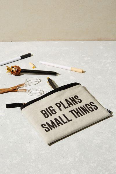 Conscious Campus Pencil Case, BIG PLANS