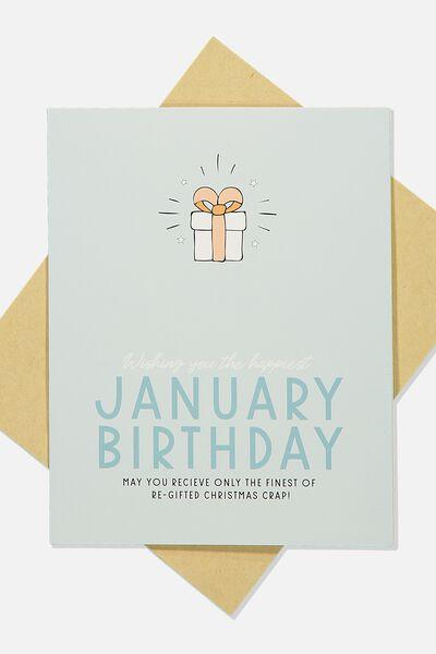 Nice Birthday Card, JANUARY BIRTHDAY