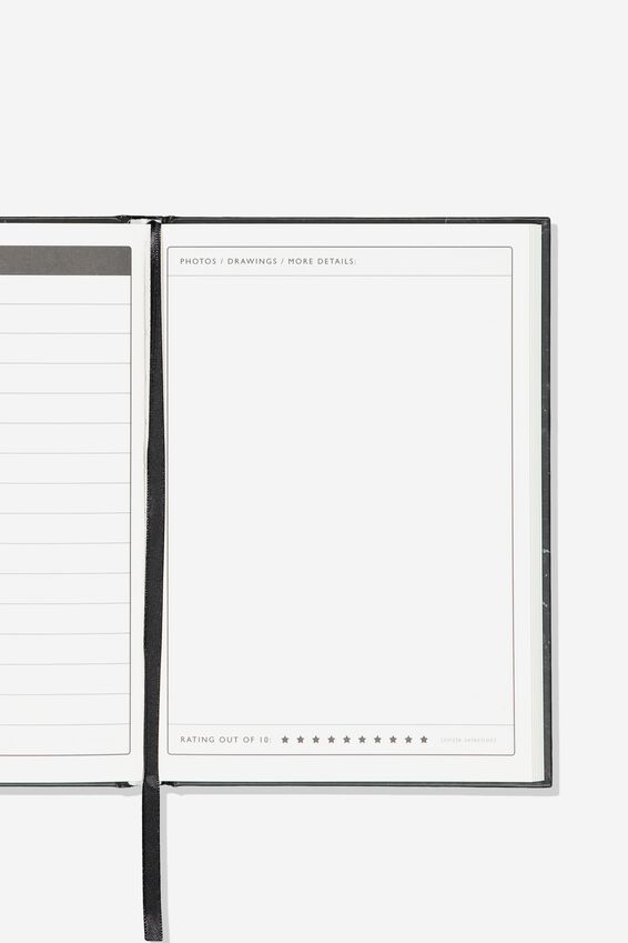 "Activity Time Journal A5 (8.27"" x 5.83""), BLACK BUCKET LIST"