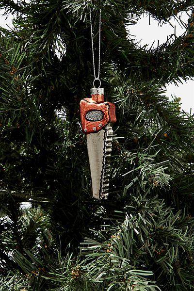 Small Glass Christmas Ornament, SAW