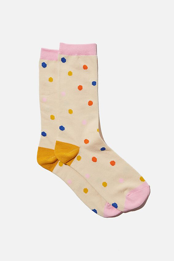 Socks, BRIGHT POLKA