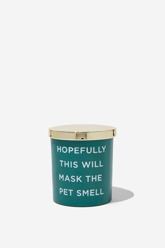 Rose Vanilla Premium Candle, PET SMELL