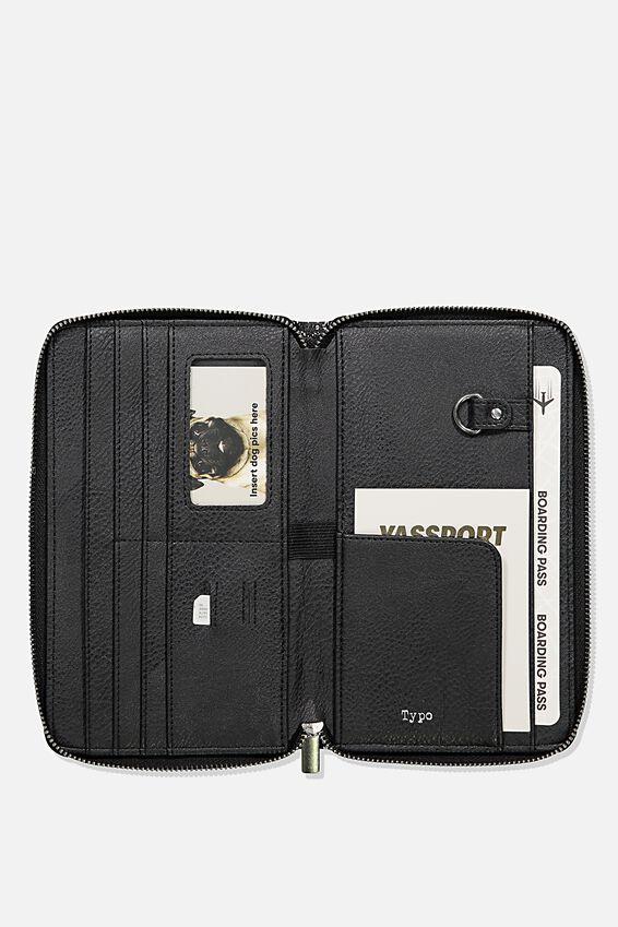 Rfid Odyssey Travel Compendium Wallet, BLACK SPLATTER