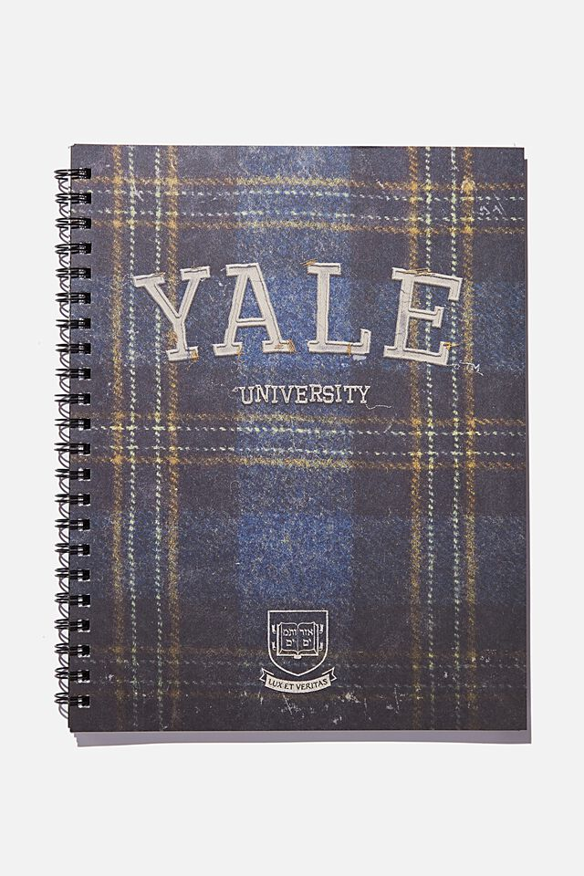 A4 Campus Notebook Recycled, LCN YAL YALE UNIVERSITY TARTAN
