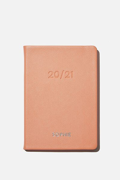 Personalisation 2020 21 A5 Weekly Buffalo Diary, PEACH
