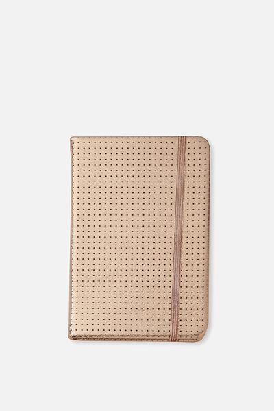 A6 Buffalo Journal, ROSE GOLD PERFORATED