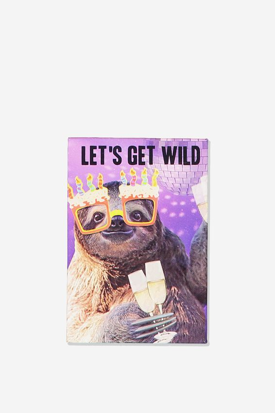 Quirky Magnets, WILD SLOTH