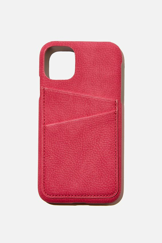 Cardholder Phone Cover Iphone 11, RASPBERRY