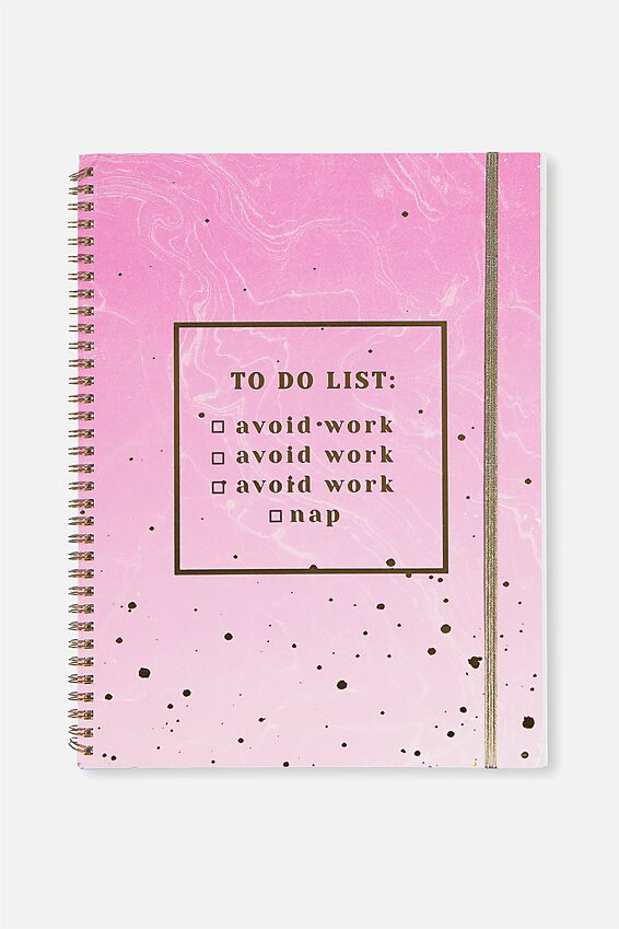 A4 Spinout Notebook Dot Page, TO DO LIST