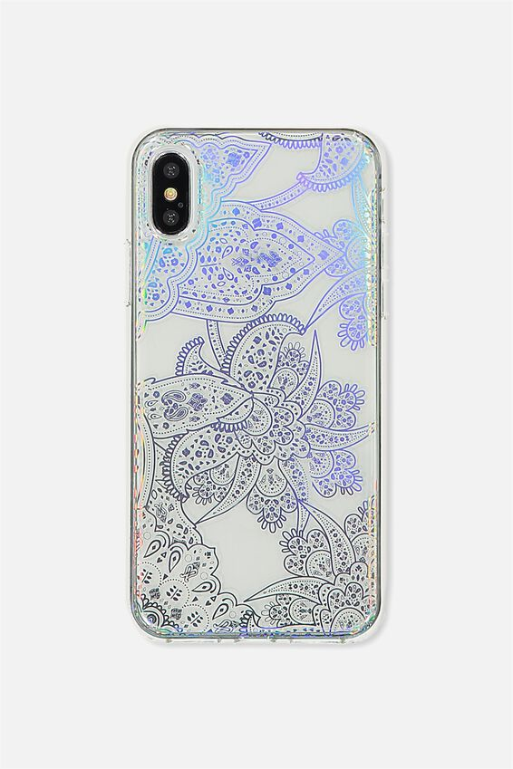 Printed Phone Cover X, IRIDESCENT LACE