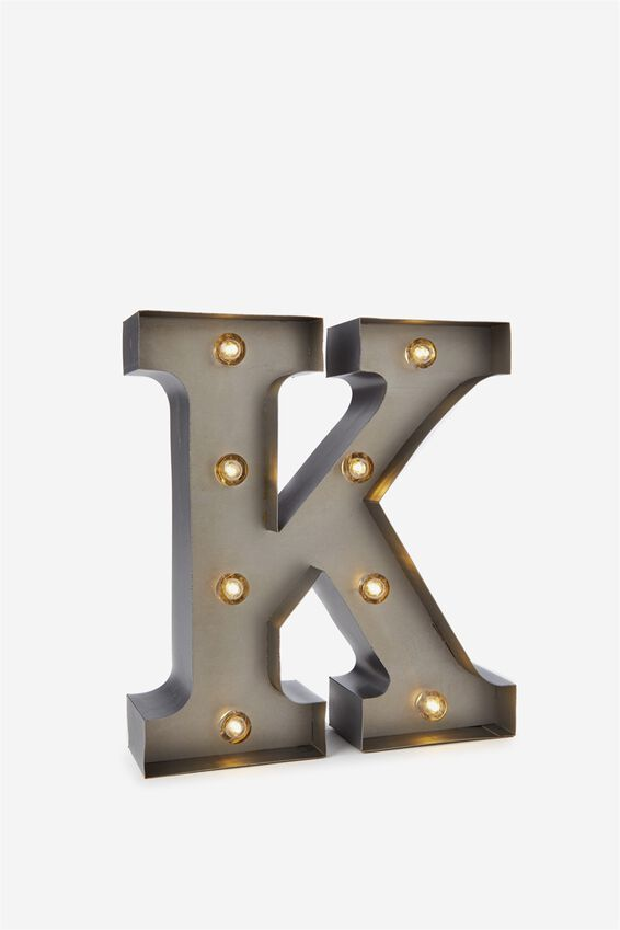 Small Marquee Letter Lights 23cm, SILVER K