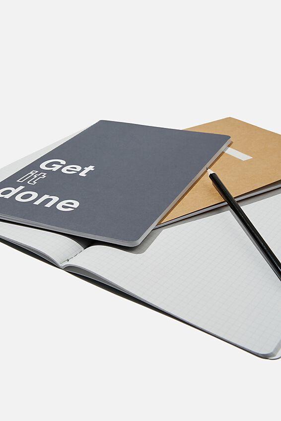B5 3Pk Get It Done Notebooks, GET STUFF DONE