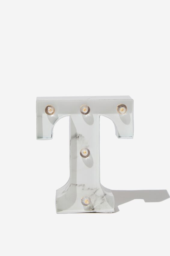 Mini Marquee Letter Lights 10cm, MARBLE T