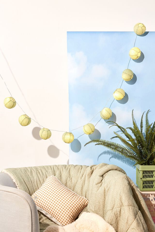 Usb Vibe String Lights, MEADOW DITSY GUM LEAF