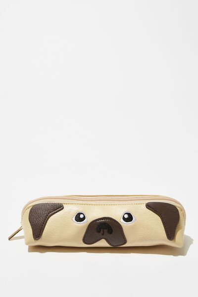 Fancy Face Pencil Case, PUG