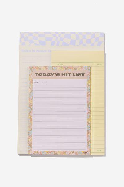Make A List 3Pk, WARP LILAC DITSY