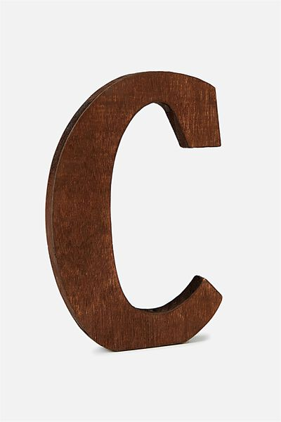 Letterpress Wooden Letter, VINTAGE WOOD C