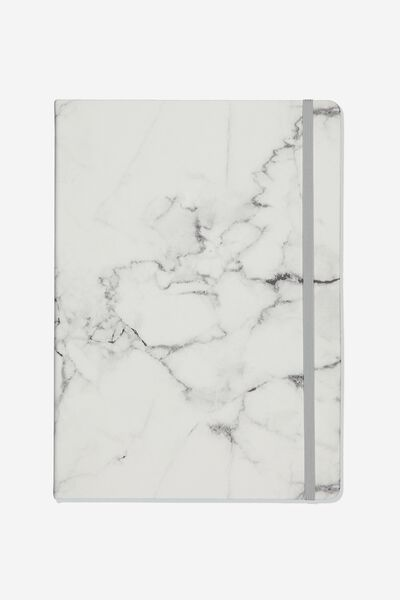 Large Blank Buffalo Journal, WHITE MARBLE