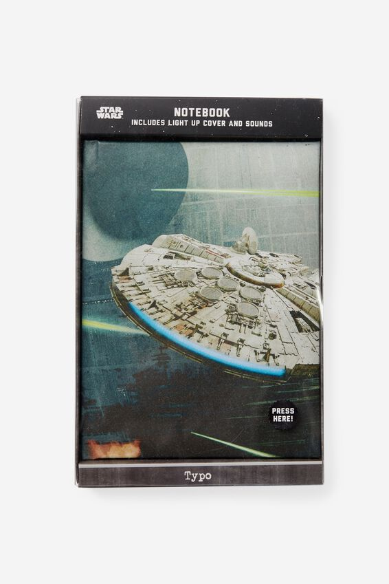 Light Up Musical Notebook, LCN STAR WARS MILLENIUM FALCON