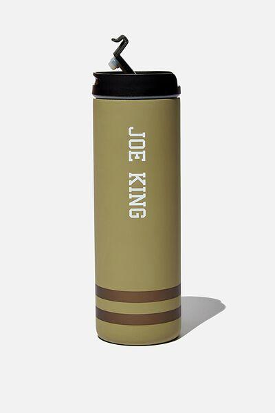 Personalisation Travelling Tea Drinker, KHAKI STRIPE