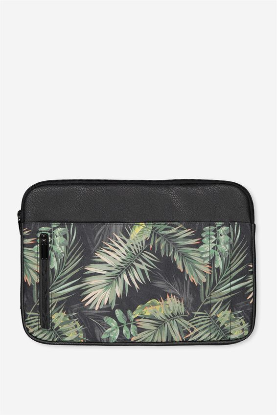 """Take Charge Laptop Cover 13"""", JUNGLE LEAVES"""