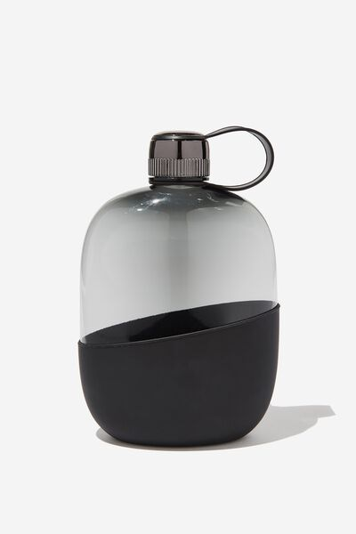 Happy Camper Drink Bottle, BLACK