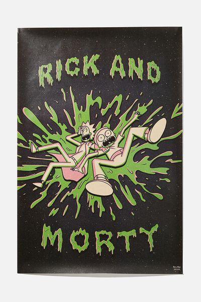 Hang Out Poster, LCN CAR RICK & MORTY