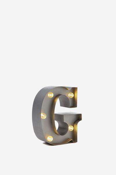 Mini Marquee Letters 10Cm, SILVER G