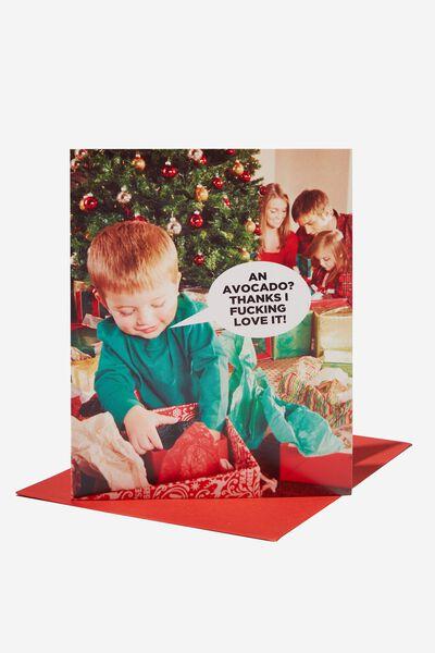 Christmas Card 2021, AN AVOCADO I F*CKING HATE IT!!