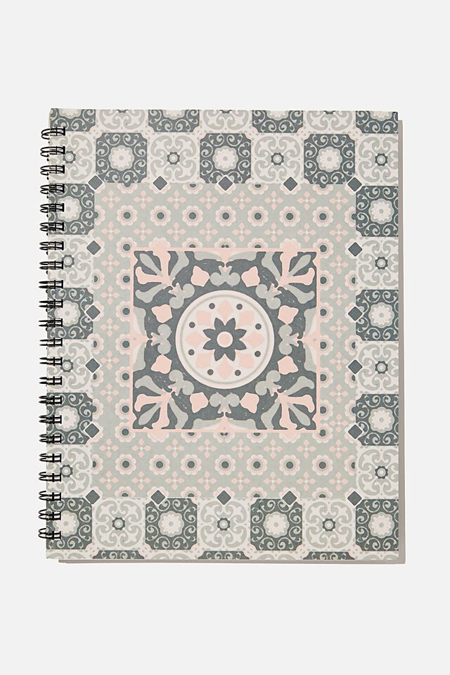 A4 Campus Notebook Recycled, RG ASIA TILE PRINT
