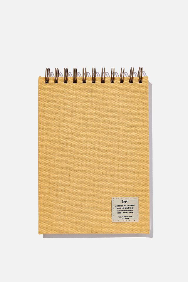 A5 Spiral Sketch Book, CANTELOPE