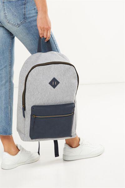 Buffalo Backpack, GREY & NAVY