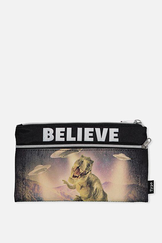 Archer Pencil Case, T REX BELIEVE