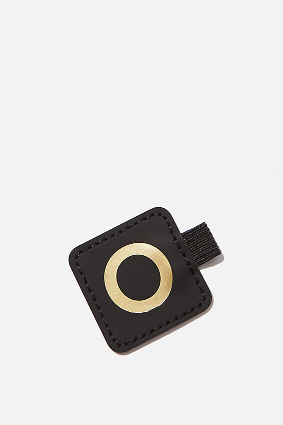 Pen Loop Sticker, BLACK O