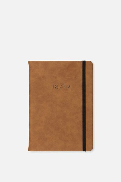 2018 19 A5 Daily Buffalo Diary, TAN