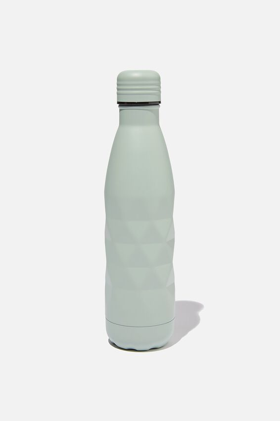 Premium Metal Drink Bottle, WASHED SAGE FACETED