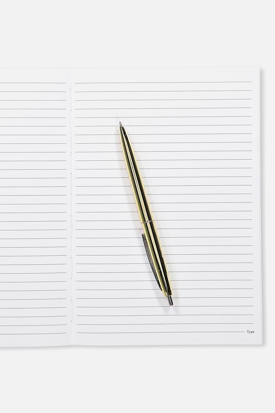 A5 Open Seam Notebook, REFLECTIVE FLORAL