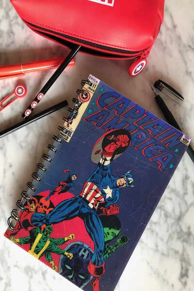 Medium A5 Lenticular Notebook, LCN MAR CAPTAIN AMERICA