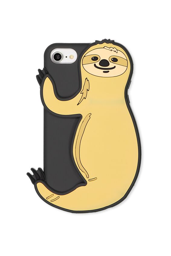 Shaped Silicone Phone Cover Universal 6,7,8, SLOTH