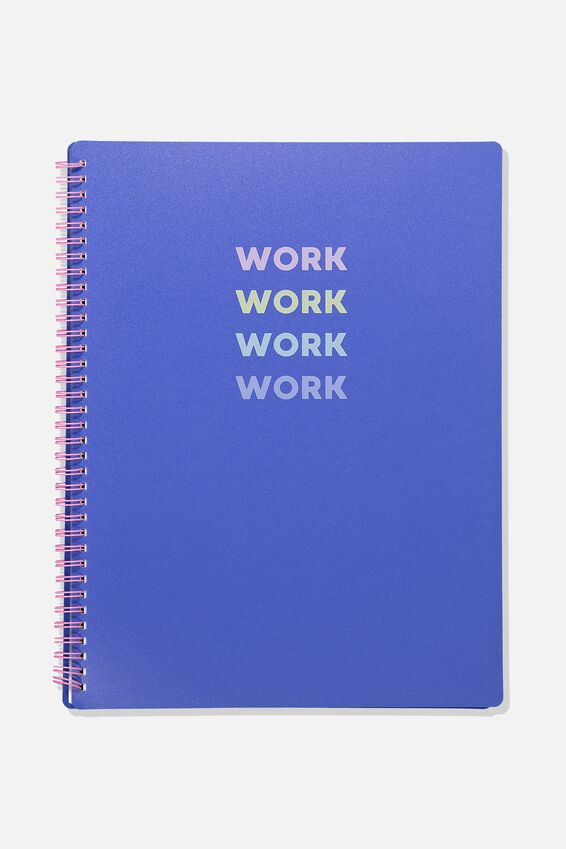 A4 Display Folder, BLUE WORK