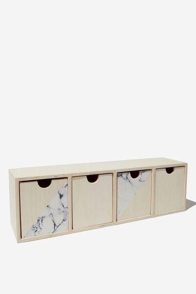 Quick Desk Drawer Storage, SPLICED MARBLE