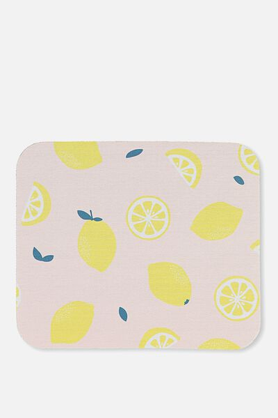 Neoprene Mouse Pad, LEMON SQUEEZE
