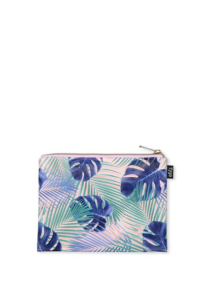 Spinout Pencil Case, PALM LEAVES