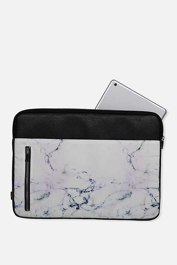 Take Charge 15 Inch Laptop Cover, LUSH MARBLE