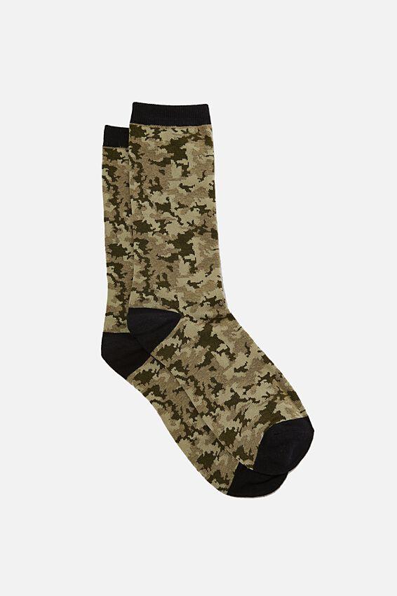 Socks, GREEN CAMO