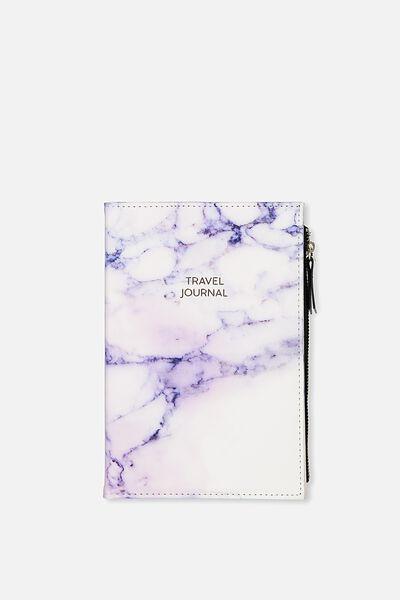 Travel Zip Journal, LUSH MARBLE