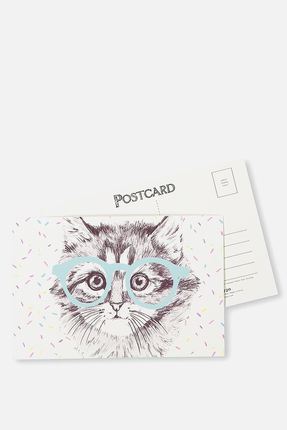 Postcard, CAT GLASSES