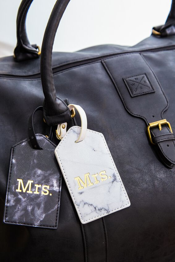 2Pce Luggage Tag Set, MRS & MRS